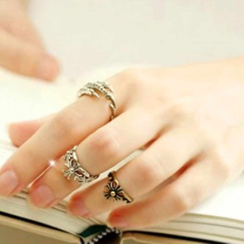 New korean jewelry wholesale retro personalized cross ring for Women for Men price gift free shipping