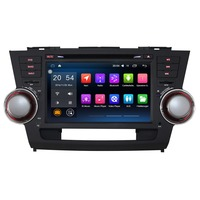 2 Din 8 Android 6.0 Car Multimedia Player For 08 11 Toyota Highlander Without DVD Car Audio Free Map Car Stereo