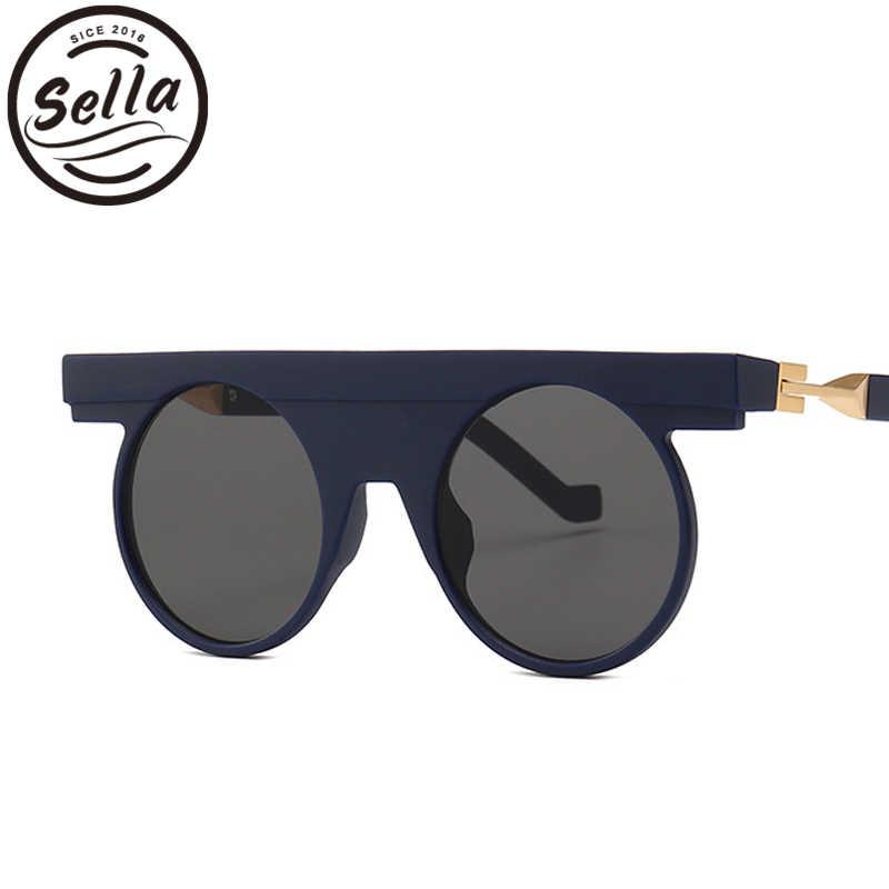 85e06f9264 Sella New Arrival Cool Future Style Super Round Sunglasses Men Women Vintage  Flat Top Matte Frame