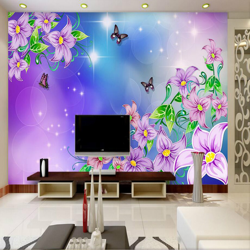 custom 3d wall paper rolls Morning glory flower     custom 3d wall paper rolls Morning glory flower wallpaper for walls 3d  murals background wallpapers home improvement