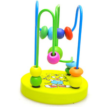 Fun Toddler Baby Colorful Wooden Mini Around Beads Montessori Kids Toys Funny Toy Mini Around Beads Educational Toy Gifts P15