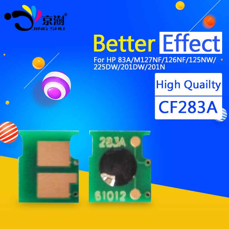 10 piezas cartucho de tóner chip CF283A 283A 83A para HP LaserJet MFP M125 125nw M127fn M127fw M127 M126fn 225dn 225dw impresora 201