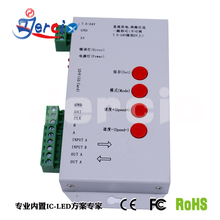 Jercio T-1000s DC5V-24V  2048 Pixels DMX 512 Controller SD Card can control WS2801 WS2811 WS2812B LPD6803 ws2812b sk6812 IC