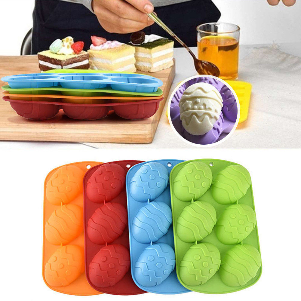 Kitchen,dining & Bar Home & Garden Smart 8 Easter Egg Shape Cake Decoration Soap Mold Silicone Mould Jelly Mousse For Kitchen Bakeware Molde De Silicone Chocolate Mold