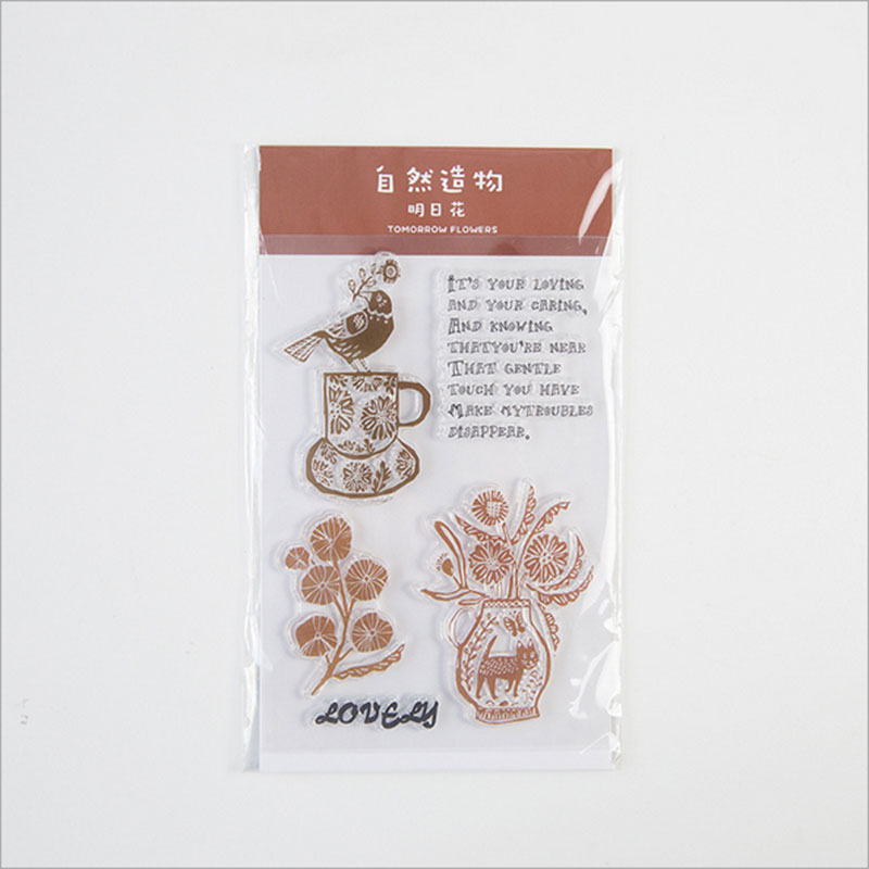 Vintage Tomorrow flower silicone transparent Clear Stamps for scrapbook DIY Photo album Rubber