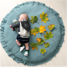 2019 Newborn Baby Padded Play Mats Soft Cotton Crawling Mat Girls Game Rugs Round Floor Carpet for Kids Interior Room Decorate