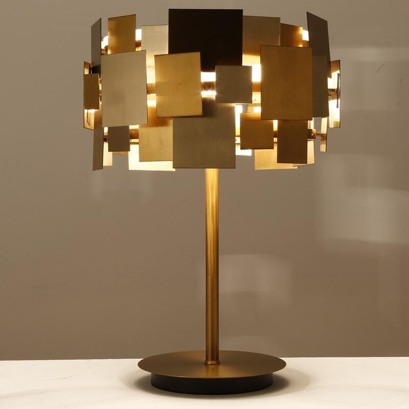 Личность железа настольная лампа Отель лампы прикроватные Гостиная исследование офисные металлические Книги по искусству освещения свето...