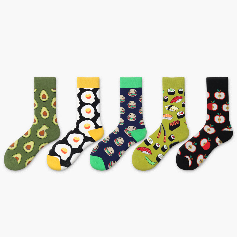 wploikjd creative Food Happy Socks Harajuku Egg Beer Hip Hop Socks Men Unisex Skarpetki Calcetines Hombre Divertidos Skateboard Underwear & Sleepwears