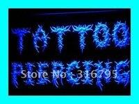 I293 Corpo ABERTO Tattoo & Piercing Loja LED Sign Neon Light On/Off Switch 20 + Cores 5 Tamanhos