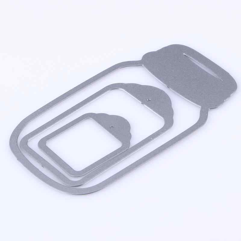 Bricolage souhaitant bouteille métal découpe pochoirs modèle Scrapbooking pour Album Photo gaufrage dossier cartes en papier travaux manuels tampons