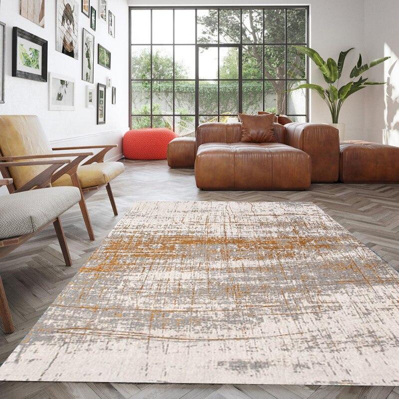 Europe tapis pour salon maison nouveaux tapis pour chambre canapé Table basse tapis de sol nordique épais tapis d'étude et tapis - 2