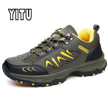 Top Summer Outdoor Man Hiking Shoes Mesh Breathable Anti-skid Trekking Sandals Sport Hunting Camping Tourism Mountain Sneakers