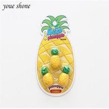 3PCS/SETS big pineapple 3D modeling erasers cartoon fruit eraser for student school supplies rubber Creative simulation все цены
