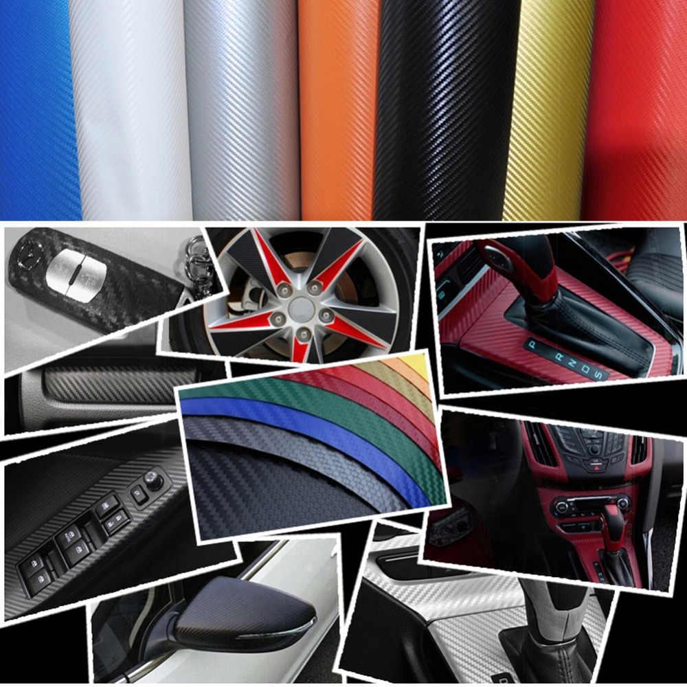 130*50 см 3d углерода Волокно винил Плёнки автомобиля Стикеры DIY Наклейки для автомобиля стайлинга автомобилей Грузовик Простыни Плёнки Стикеры наклейка универсальный