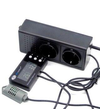 EU PLUG Greenhouse Reptile Terrarium humidity and temperature controller with humi/dehumi heat/cool output