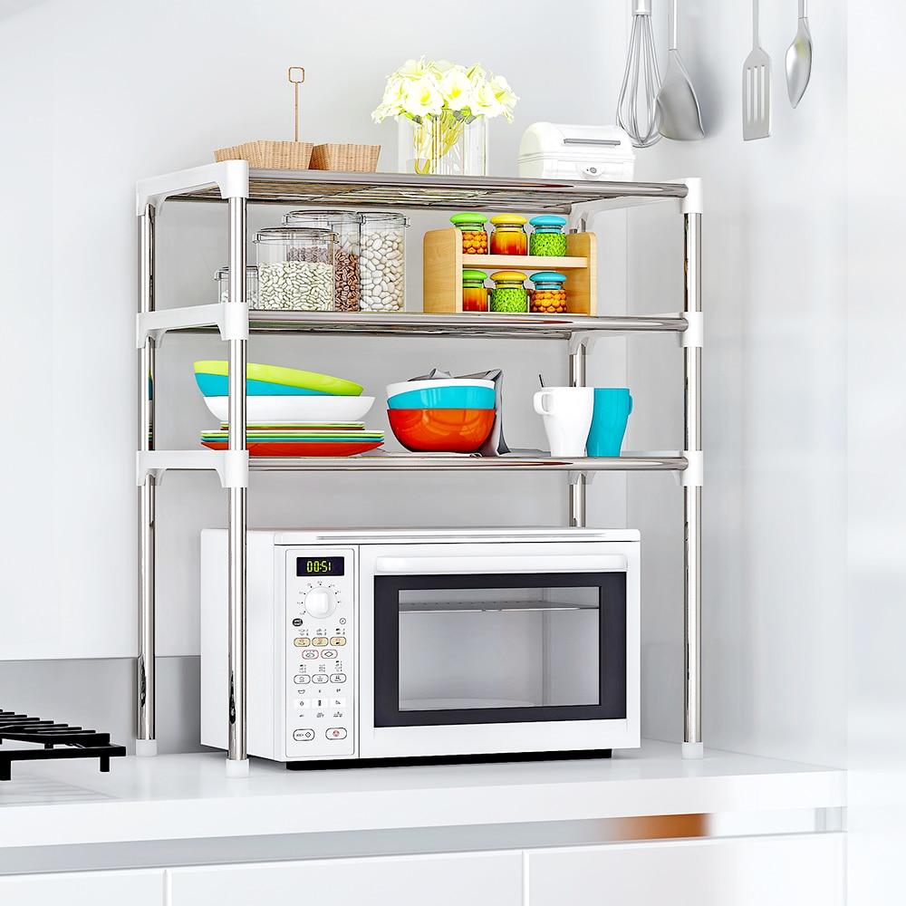 1/2 Layer Multi-function Storage Rack Kitchen Shelf Household