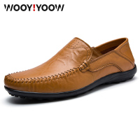 WOOY!YOOW 2019 New Fashion Men's Peas Shoes Men's Casual Shoes Daddy Shoes British Style Gentleman Men's Leather Shoes Walking