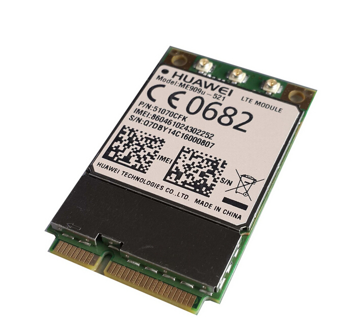 Unlocked Huawei ME909u 521 FDD LTE Mini pcie 4G  Antenna connector 100% New&Original card Support GPS Voice Message stock-in Integrated Circuits from Electronic Components & Supplies