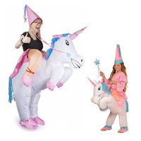 Unicorn Inflatable Cosplay Costume Mother Daughter Clothes Ride On Animal Outfit For Child Adult Matching Outfits Family Look