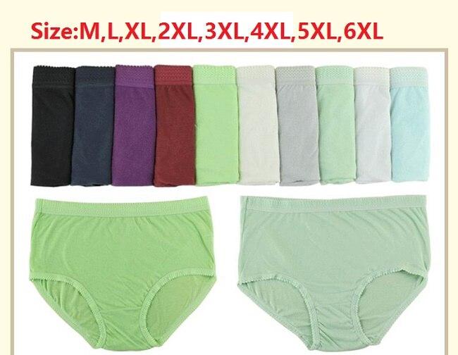 M,L,XL,2XL,3XL,4XL,5XL,6XL Women's plus size cotton briefs everyday underwear cotton   panties   5pcs/lot