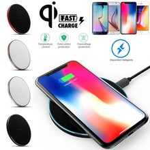 UGI 9V 2A Qi Wireless Fast Charger Slim Pad Mat Aluminum Charging For iPhone X 8 Plus Samsung Galaxy Note 8 5 S8 S7 Edge