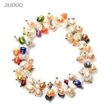 JIUDUO Free shipping natural freshwater cultured pearl bracelet crystal bracelet neutral fashion gifts wholesale manufacturers manufacturers wholesale all kinds of best lp guitars can be customized ems free shipping
