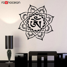 Vinyl Wall Decal Mandala Om Yoga Talisman Bedroom Stickers Interior Design Bohemian Decor Wallpaper YD39