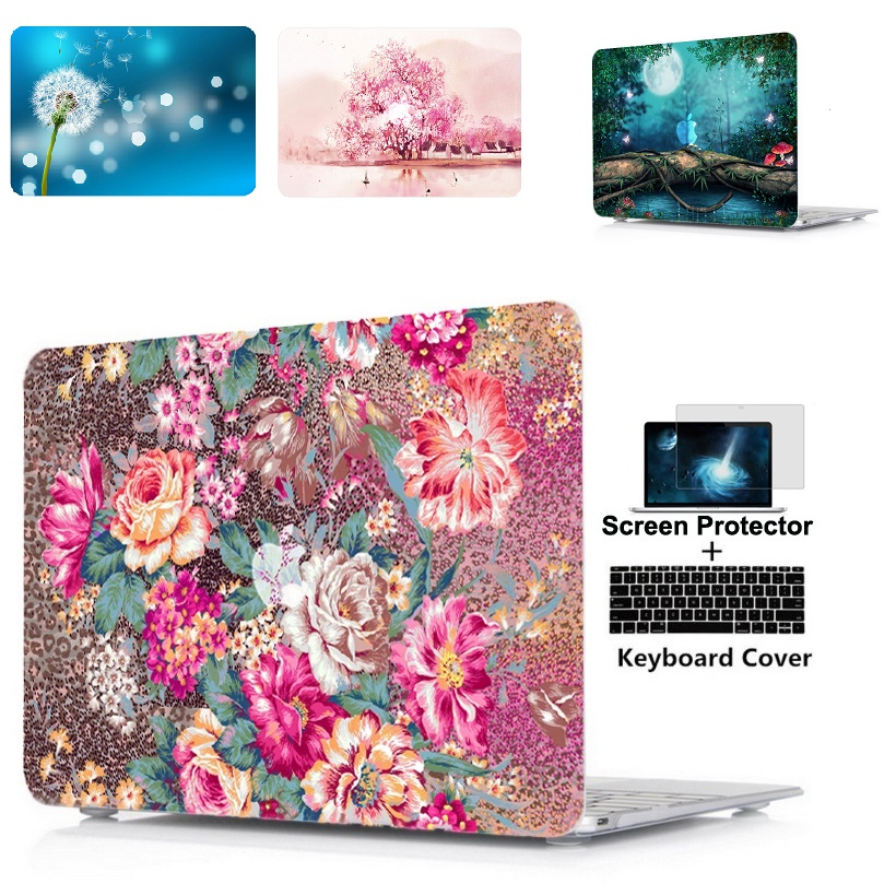 laptop Hard Shell Case Keyboard Cover For Macbook Air 11 13 Pro Retina Touch Bar 12 13 15 inch A1990 A1989 A1932 A1706 in Laptop Bags Cases from Computer Office