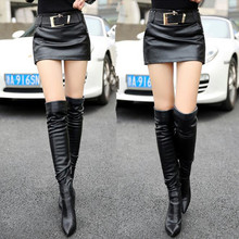2017 New Arrival PU Leather Shorts Women Plus Size Sexy Short Femme Fashion Skirt Shorts Yellow/Black Shorts XL