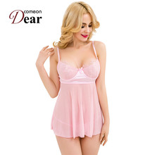 RB80275 Sweet Pink Cute Style Mini Sexy Babydoll Transparent Erotic Sexi Woman Lingerie Fancy Underwear Plus Size M,XL,3XL,5XL