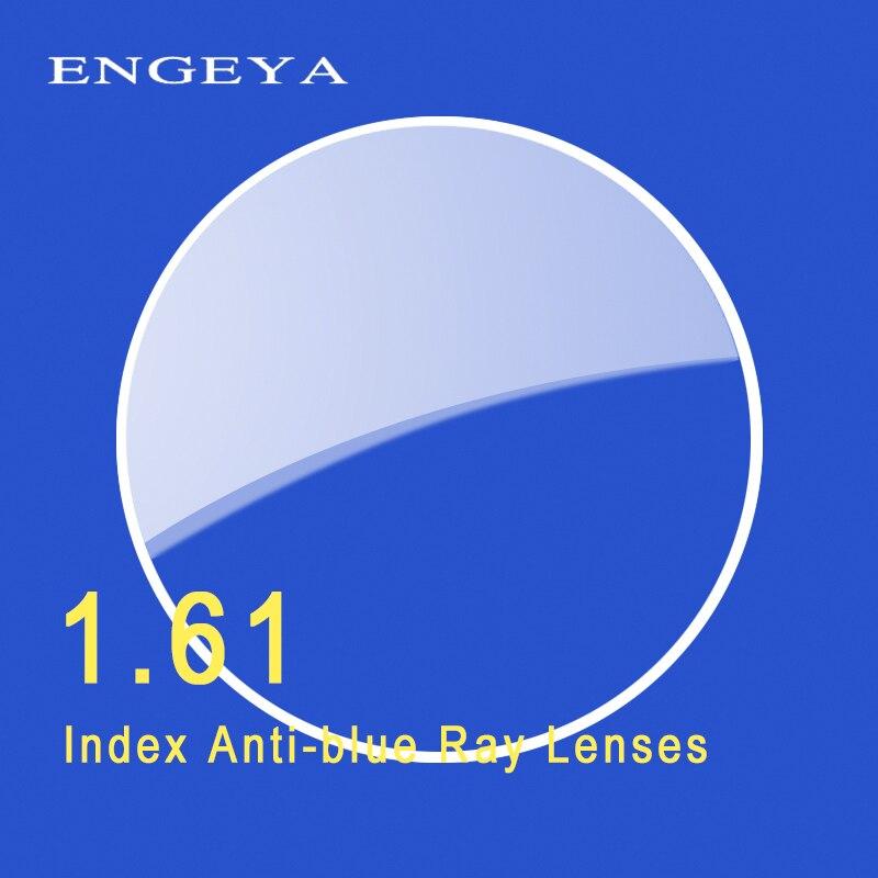 ENGEYA 1.61 Index Anti-blue Single Vision Resin Lenses Aspheric Lenses for Myopia Hyperopia Prescription Eyeglasses Lens UV400