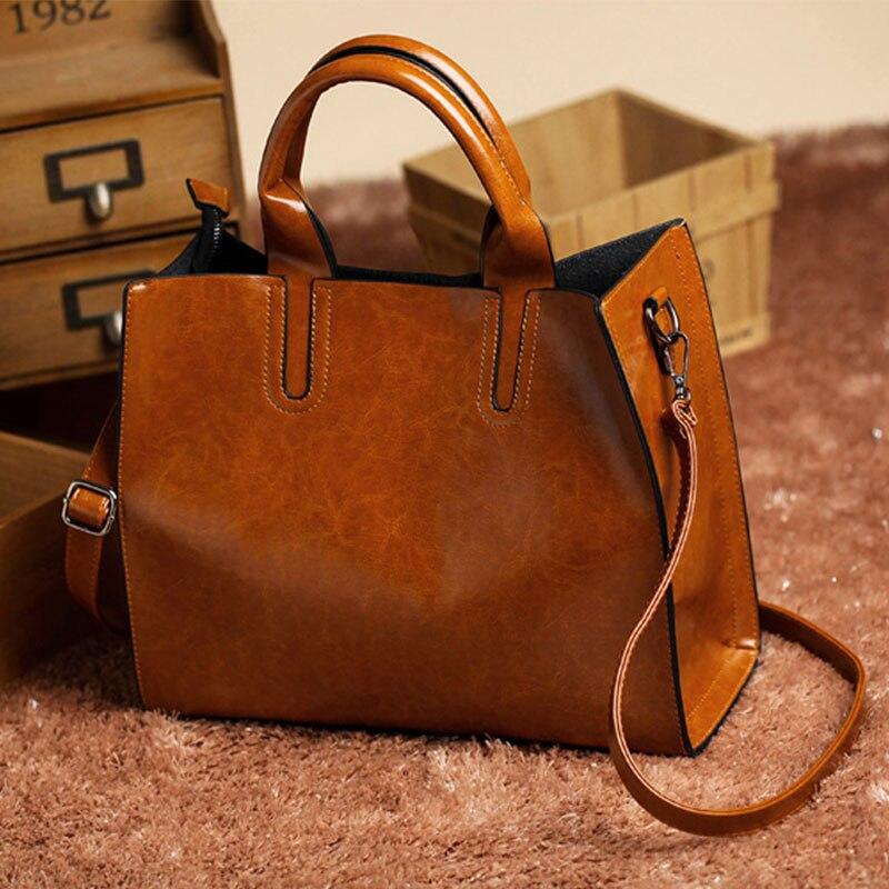 bolsa de couro simples moda Abacamento / Decoração : Nenhum