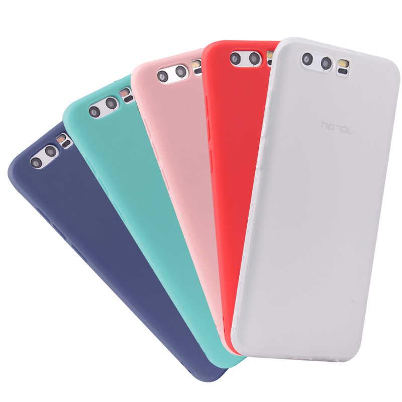Casos macios da cor dos doces para huawei honor 10 9 lite 8x nota máxima 10 8c v9 jogar 6c 7c pro nova 4 p smart 2019 macio tpu telefone capa