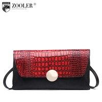 ZOOLER Genuine Leather Messenger Bags Women Famous Brand Alligator Print Bag For Lady Cross Body Shoulder