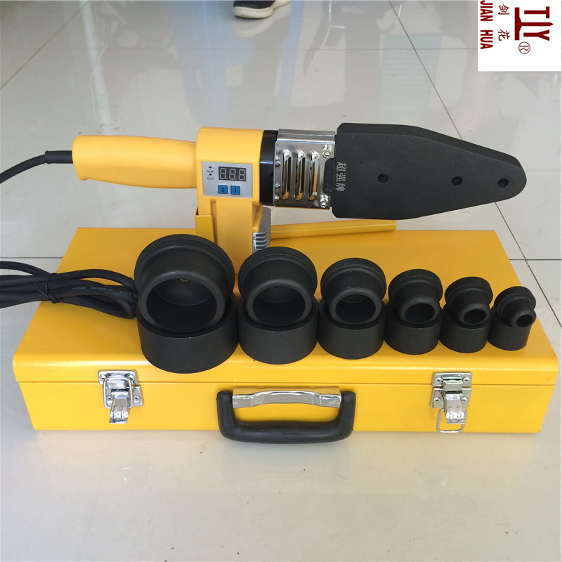New 20-63mm 1000W 220V Digital Display Devices Ppr Welding Machine Plastic Pipe Welder Water Heating Element For Welding Pvc