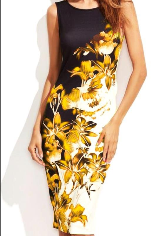 Sleeveless Print Pencil Dress Women 2019 New Arrival Summer Slim Dress Plus Size Casual Sexy Elastic Tight Club Dresses Vestidos