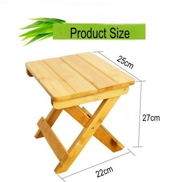 Bambú ambiental hecho cuadrado pequeño bancos portable y plegable ...