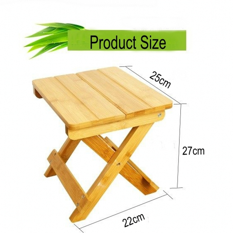 Environmental bamboo made square small benches portable & folding small wood benches Fishing stool new bamboo garden style square table assembly square desk small learning healthy and environmental protection