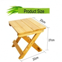Environmental bamboo made square small benches portable & folding small wood benches Fishing stool