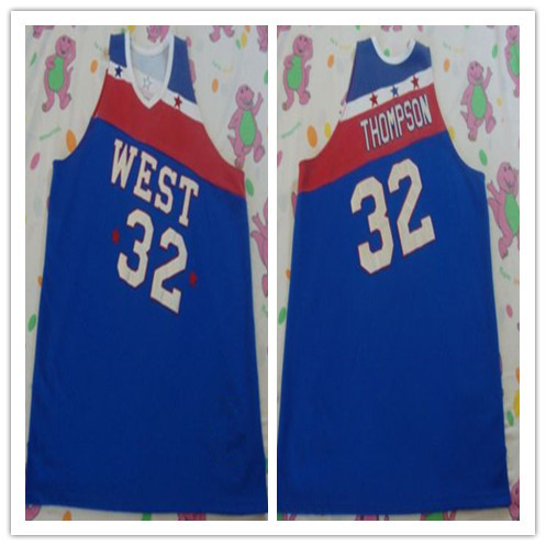#32 David Thompson West all star game 1979 mens basketball jersey Embroidery Stitches Customize any size and name zan headgear neodanna gender mens unisex primary color white distinct name gun gangster size osfm wneolt101