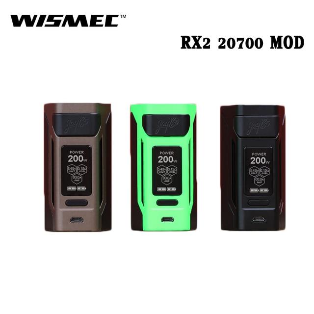 Оригинальные электронные сигареты wismec reuleaux RX2 20700 200 Вт RX2 20700 коробка mod VAPE 1.3 дюймов также может питание от 18650 Батарея