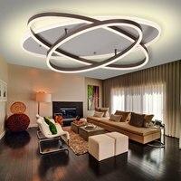 Современные акриловые светодио дный потолок Ligths для гостиной Спальня столовая светильники светодио дный потолочный светильник AC110V 220 В све