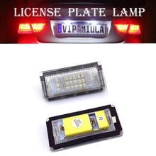 2pcs License Plate Lights LED Car Light For BMW E46 4D 1998-2003 18 Signal Source Lamps Cars