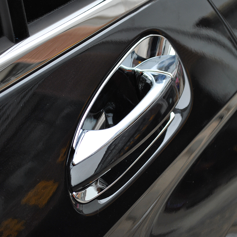 ABS Chrome Side Door Handle Trim Door Bowl Cover Stickers For Mercedes Benz GLK Class X204 200 260 300 2008-2015 Car-Styling high quality new driver side airbag cover for glk w204 glk300 glk350 airbag cover dab cover with logo