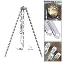 Outdoor Camping Picnic Cooking Tripod Outdoor Stove Pot Hanging Hook Portable Campfire Picnic Accessory