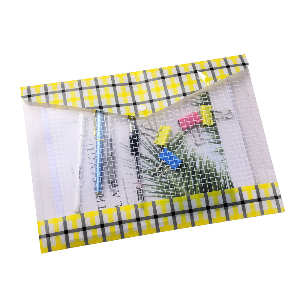 12pcs set a4 file folde transparent plastic folders A5 document bag Office folder bag Filing Products School Supplies in File Folder from Office School Supplies