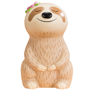 Cute little sloth child piggy bank