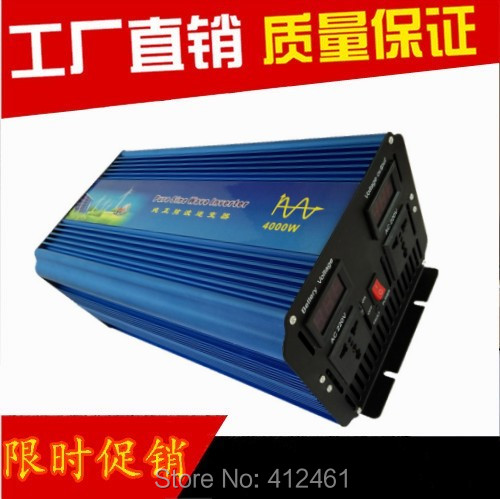 цены Free Shipping 8000W Peak 4000W(Continuous) pure Sine Wave Power Inverter DC 12V to AC 220 230V 240V Converter