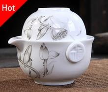 Kung Fu Tee-set Enthalten 1 Topf 1 Tasse, hohe qualität elegante gaiwan, Schön und einfach teekanne wasserkocher. Kaffeetasse. kostenloser versand