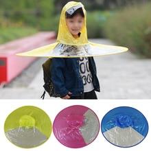 268e03816c086 1pc Outdoor Fishing Golf Convenience Child Adult Cover Transparent Umbrellas  Rain Coat Raincoat Umbrella Hat Cap